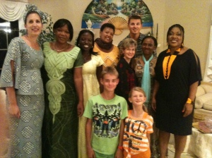 Ladies from Africa join my family for dinner